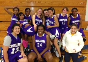 JV and Varsity Lady Crusaders 2012-13 season, Photo Courtesy Jon Nosek.