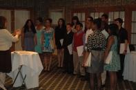 The 8th grade singing