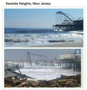Hurricane Sandy Before and After