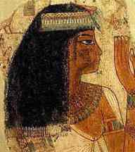 Egyptians were very clean people. So clean in fact, that many of the royal household shaved their heads and wore wigs instead. A maidservant like Sekhet would have her own hair, but would wear an ornamental headdress to cover it.