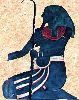 Hapi, the Egyptian god of the Nile. He was god of upper and lower Egypt and was know for fertility.