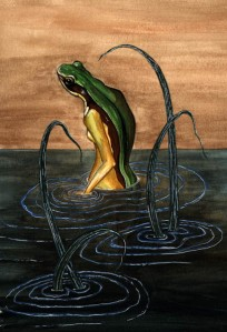 Heka, the goddess of frogs, was known for fertility. Often during child birth, women would wear an amulet depicting Heka with a frog-head sitting on a lotus flower.
